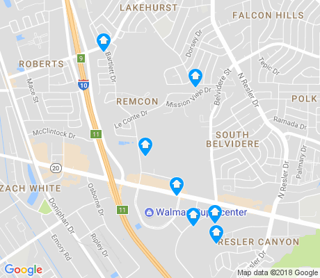 map of Remcon apartments for rent