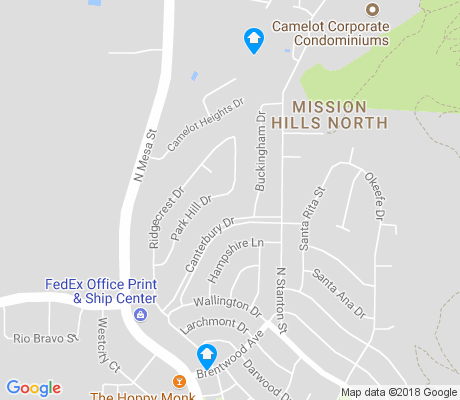 map of Ridgecrest apartments for rent