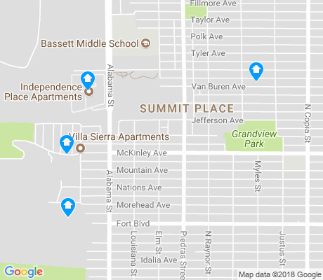 map of Summit Place apartments for rent