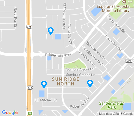 map of Sun Ridge North apartments for rent