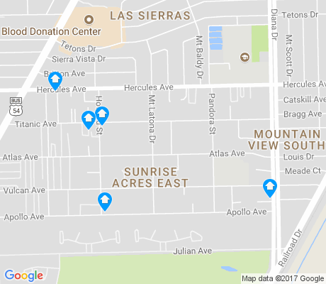 map of Sunrise Acres East apartments for rent
