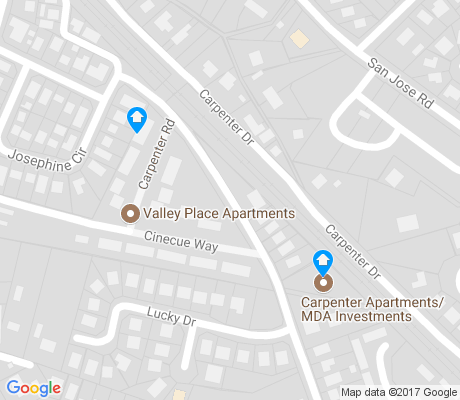 map of Valle Grande apartments for rent
