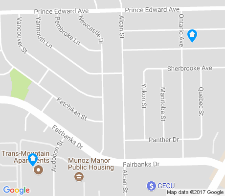 map of Village Green apartments for rent