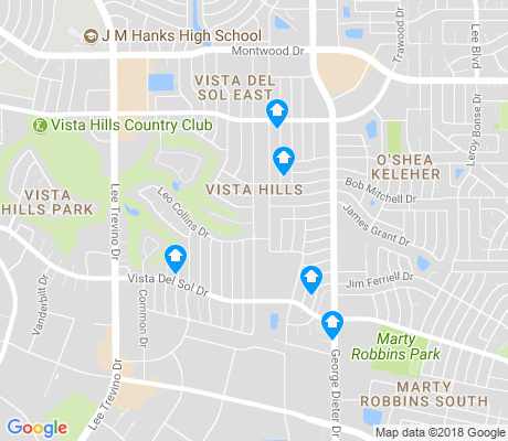 map of Vista Hills apartments for rent