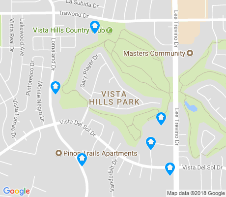 map of Vista Hills Park apartments for rent