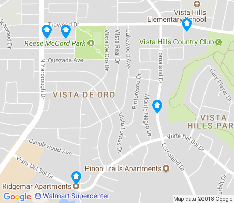 map of Vista de Oro apartments for rent