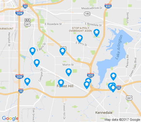 map of 76119 apartments for rent