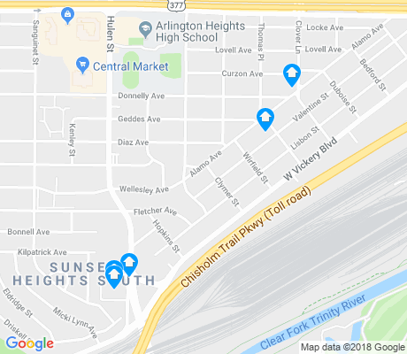 map of Alamo Heights apartments for rent