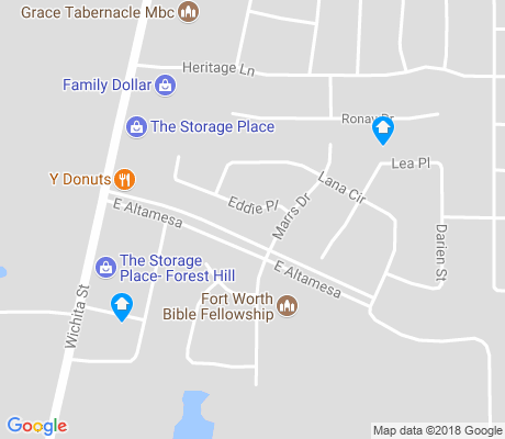 map of Alta Mesa East apartments for rent