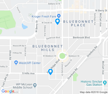 map of Bluebonnet Hills apartments for rent