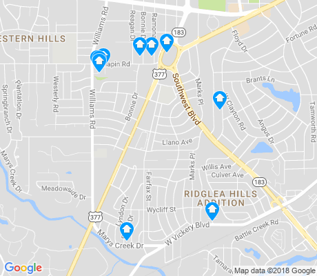 map of Bomber Heights apartments for rent