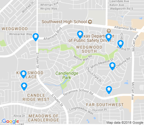 map of Candleridge apartments for rent