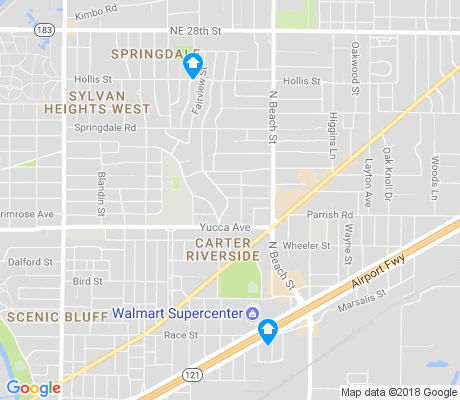 map of Carter Riverside apartments for rent