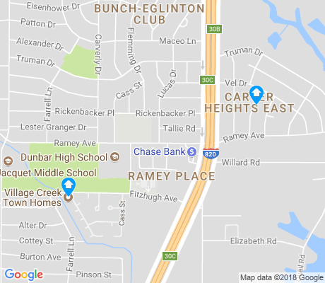 map of Carver Heights East apartments for rent