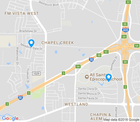 map of Chapel Creek apartments for rent