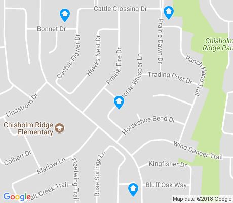 map of Chisholm Ridge apartments for rent