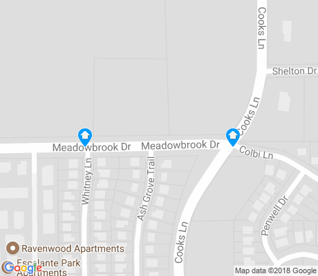 map of Cookes Meadow apartments for rent