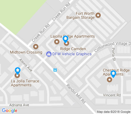 map of Cottonwood Village apartments for rent