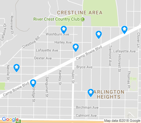 map of Crestline Area apartments for rent