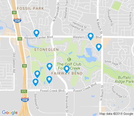 map of Fairway Bend apartments for rent