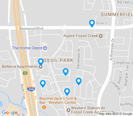 map of Fossil Park apartments for rent