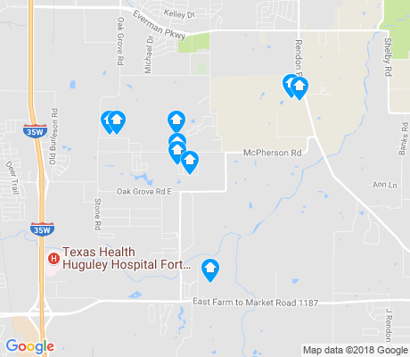 map of Garden Acres apartments for rent
