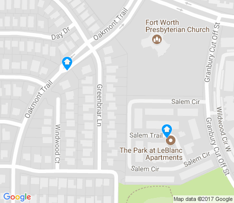 map of Hulen Bend Estates apartments for rent