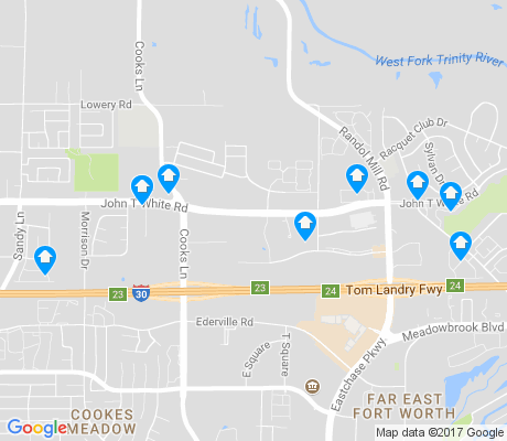 map of John T. White apartments for rent