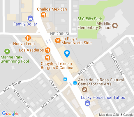 map of La Nueva Northside apartments for rent