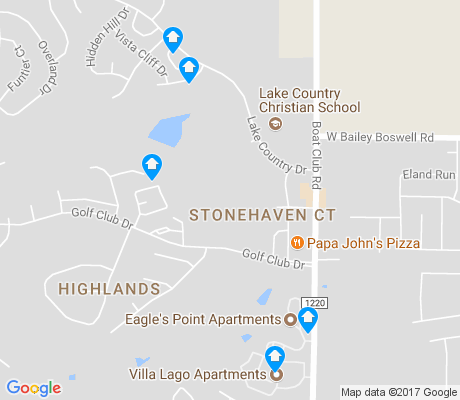 map of Lake Country apartments for rent