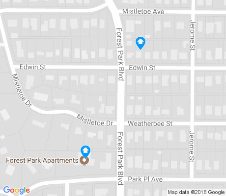 map of Mistletoe Heights apartments for rent