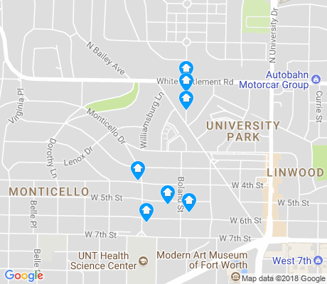 map of Monticello apartments for rent