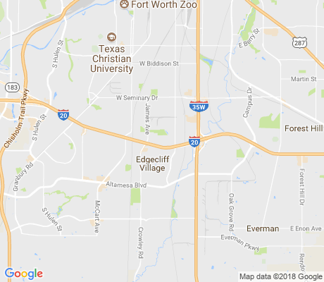 map of North Greenbriar apartments for rent