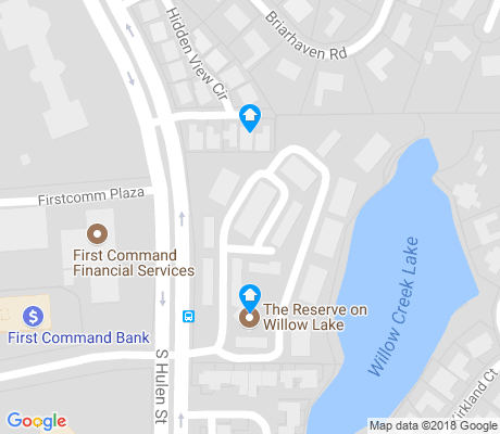 map of Overton Park apartments for rent