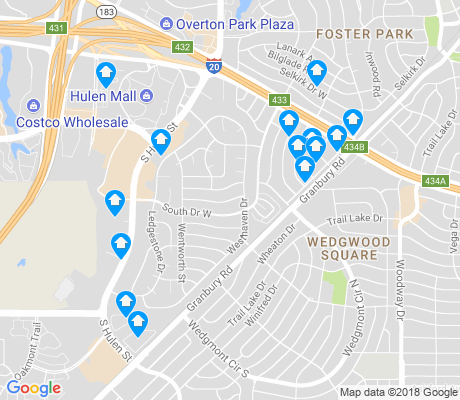 map of Overton South apartments for rent