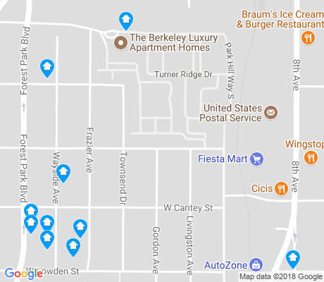 map of Paschal apartments for rent