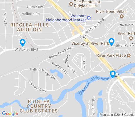 map of Ridglea Country Club Estates apartments for rent