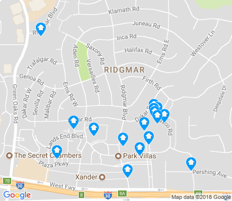 map of Ridgmar apartments for rent