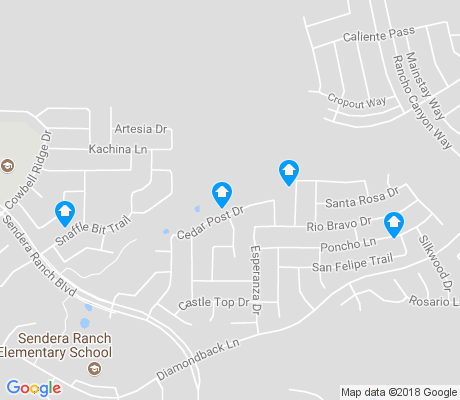 map of Sendera Ranch apartments for rent