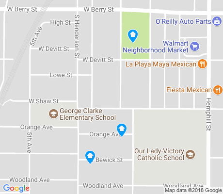map of Shaw Clarke apartments for rent