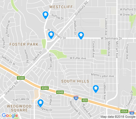 map of South Hills apartments for rent