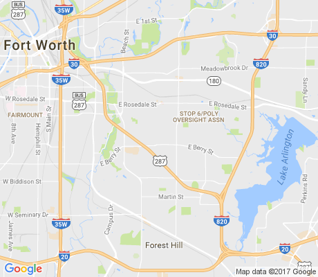 map of South Poly apartments for rent