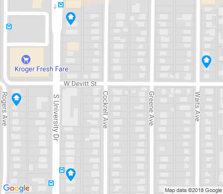 map of Texas Christian University apartments for rent