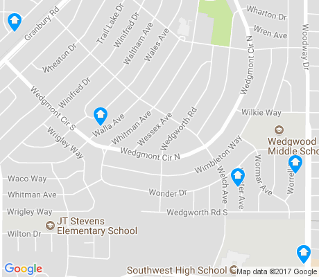 map of Wedgwood Middle apartments for rent