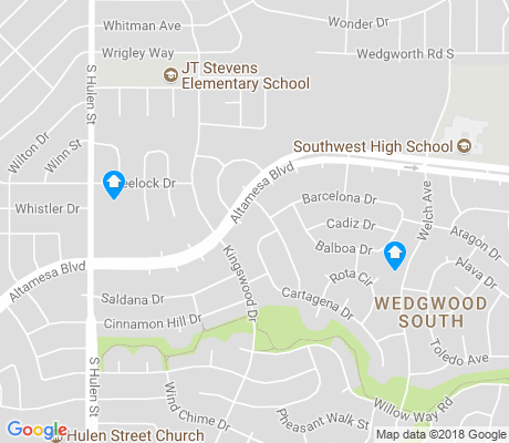 map of Wedgwood South apartments for rent