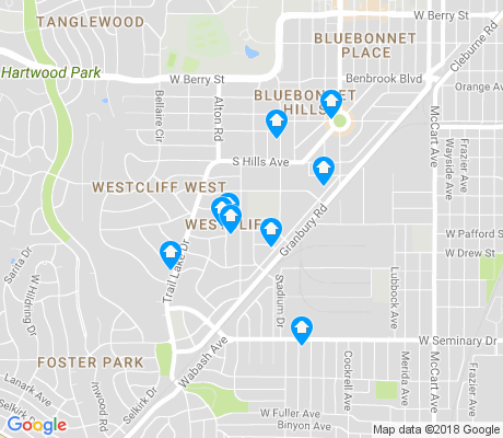 map of Westcliff apartments for rent