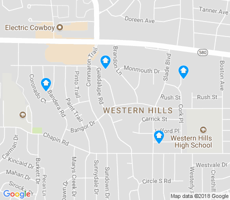 map of Western Hills apartments for rent