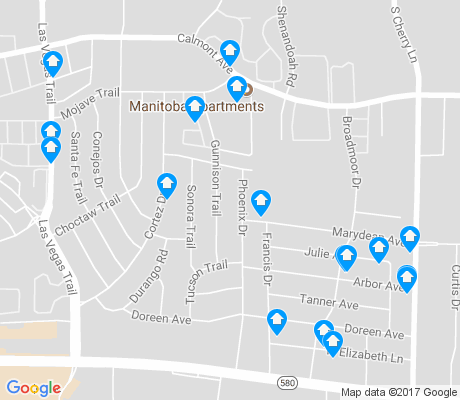 map of Western Hills North apartments for rent