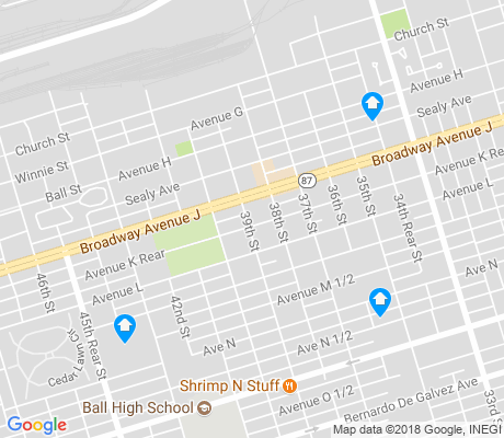 map of Carver Park apartments for rent