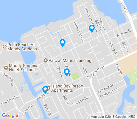 map of Offatts Bayou apartments for rent